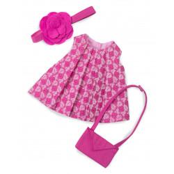Set robe imprimée rose