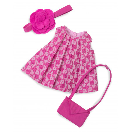 Set robe imprimée rose